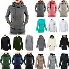 Womens Pullover Hoodie Jacket Long Sleeve Sweater Outwear Hooded Jumper Tops New