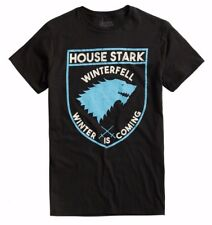 """Game Of Thrones STARK DIREWOLF SIGIL """"WINTER IS COMING"""" T-Shirt NWT Licensed"""