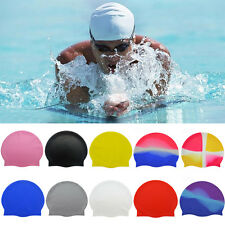 Unisex Adult Elasticity Flexible Silicone Swimming Caps Bathing Hat Waterproof