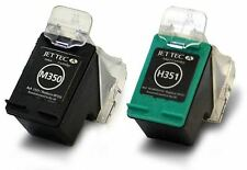 H350 + H351 Black & Colour Remanufactured Ink Cartridges HP350 & HP351