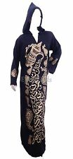 Egyptian Cotton Calligraphy Galabeya Abaya Islamic Jilbab Kaftan Isdal Prayer