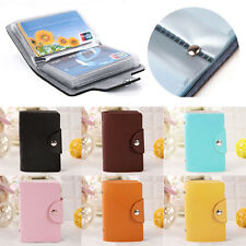 12 Cards PU Leather Credit ID Business Card Holder Pocket Wallet Case Purse FN