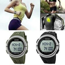 Heart Rate Monitor Sports Watch Pedometer Calorie Counter Sleep Walk Run Timer