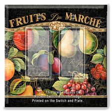 Light Switch Plate Cover Apple Pear Fruit Market French w/ Rocker Switch  Outlet