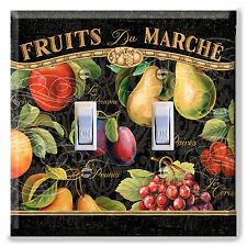 Light Switch Plate Cover  Apple Pear Fruit Market French Kitchen Home Decor