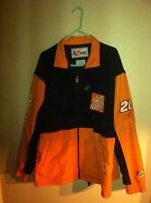 New Fleece nylon poly Jacket Tony Stewart #20 Home Depot Joe Gibbs Racing NASCAR