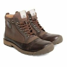 Base London Mens Donald Waxy Leather/Nubuck Brown Lace Up Boots