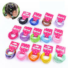 50 Pcs Endless Snag Free Hair Elastics Bobbles Bands Pony Tails 19 Colours Hot