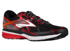 NEW MENS BROOKS RAVENNA 7 RUNNING SHOES TRAINERS BLACK / HIGH RISK RED / SILVER
