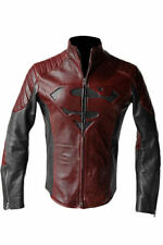 Superman Man of Steel Smallville Black and Red Leather Jacket