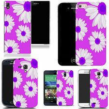gel rubber case cover for  Mobile phones - purple bunched daisy silicone