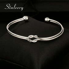 2017 Fashion Knot Smooth Bangle Cuff For Women 18K White/Rose Gold Plated SL303