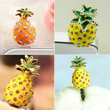 Crystal Pineapple Earphone Jack Anti Dust Plug Stopper for CellPhone 3.5mm CGE