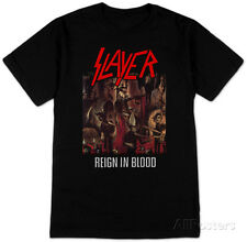 Slayer- Reign In Blood T-Shirt Black New Shirt Tee