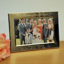 Personalised Engraved Hearts Photo Frame Mother of Bride Groom Wedding Gift 6x4