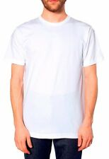 American Apparel Made in USA Fine Jersey Blank White Unisex T-Shirt