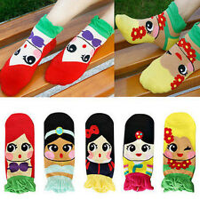 Womens Princess Cute Adorable Cartoon Girls Cotton Ankle Socks Low Cut Socks