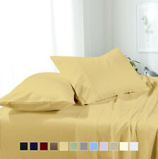 Super Soft Microfiber Attached Waterbed Solid Sheet Set Collection - All Sizes