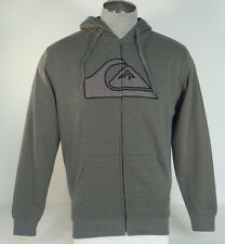 Quiksilver Green Sherpa Lined Zip Front Hooded Jacket Hoodie Mens NWT