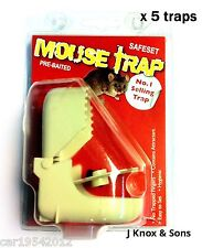 10 x Pre-Baited Mouse Traps Easy to Use Hygenic Pest Rodent Control Stop Plastic