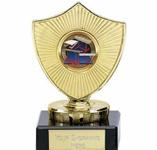 10cm Gymnastics Shield Trophy 2 sizes of Centre  Free Engraving up to 30 Letters