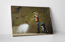 Banksy Cave Painting Gallery Wrapped Canvas Print. BONUS BANKSY WALL DECAL!