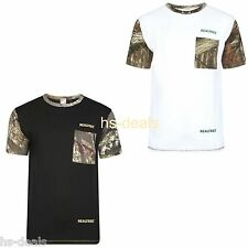 Mens Army Jungle Print Camouflage Short Sleeve T Shirt Fishing Hunting Top Camo