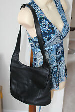 Genuine Leather Black Tignanello shoulder bag purse handbag