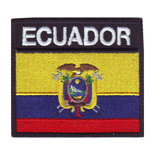 ECUADOR BADGE FLAG EMBROIDERED  PATCH
