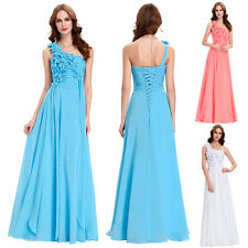FREE SHIP~Formal Evening One Shoulder Bridesmaid Pageant Prom Cocktail Dresses
