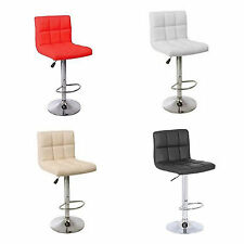 KUBA FAUX LEATHER KITCHEN BREAKFAST BAR STOOL PUB BARSTOOLS SWIVEL PU NEW H303A