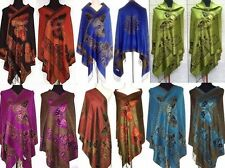 Popular Chinese Style Women Lady Double-Side Butterfly Pashmina Scarf Wrap Shawl