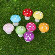 100pcs Mushroom Miniature Dollhouse Figurine Bonsai Terrarium Landscaping Decor