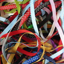 20 Mtr Bundle 10mm Polka Dot Grosgrain Ribbon Trimmings Assorted Colours Offcuts