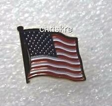 Gold Plated Enamel Made in US American Waving Patriotic Flag Hat Tac Tie Pin USA