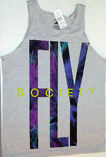 FLY SOCIETY GRAY tank top sleeveless TEE T-SHIRT MENS