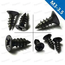 M3/M3.5 Black oxide Phillips Cross recessed Countersunk Head Self Tapping Screws