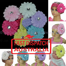 Baby Toddler Girl Stretch Daisy Flower Photo Shoot Hair Head Band Headband