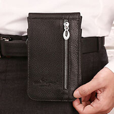 Men Genuine Leather Fanny Waist Pack Cell/Mobile Phone Case Belt Card Holder Bag