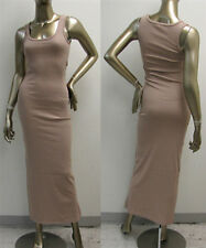 Ribbed Tank Top Style Sleeveless Bodycon Casual Maxi Dress (Size S, M, L)