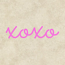 XOXO Love Bumper Sticker Window Laptop Tablet Funny Quote Car Girly Graphics