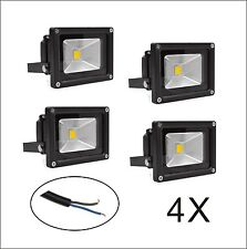 10W 12V LED Flood light Cool Warm White Outdoor Sercurity Lamp Black IP65 4PCS