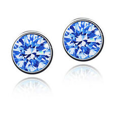 1Pair Fancy Crystal Sapphire Blue/Rose Red Earrings Unisex Party Ear Studs New