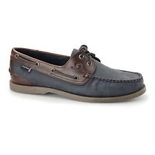 Chatham BERMUDA G2 Mens Nubuck Leather Casual Comfort Boat Shoes Navy/Brown