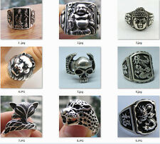 2016 New Wonderful Tribal Tibet silver carved fashion ring 10 style