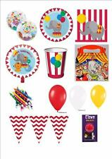 CIRCUS TIME RANGE OF TABLEWARE DECORATIONS BALLOONS CHILDRENS BIG TOP BIRTHDAY