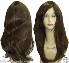 Medium Length Wavy Layered Wig Hair With Fringe Top Quality