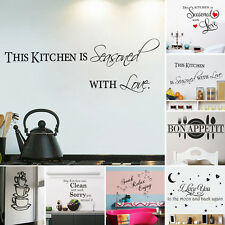 Removable Words Art Vinyl Quote Mural Decal Room Decor Home Wall Sticker DIY KN