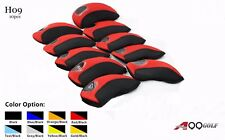 H09 Golf Iron Covers Neoprene Headcovers 10pcs/set + 2pcs Leash Strap 4