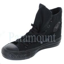 Converse All Star Hi Top Canvas Trainers - All Black  Mens, Womens Size